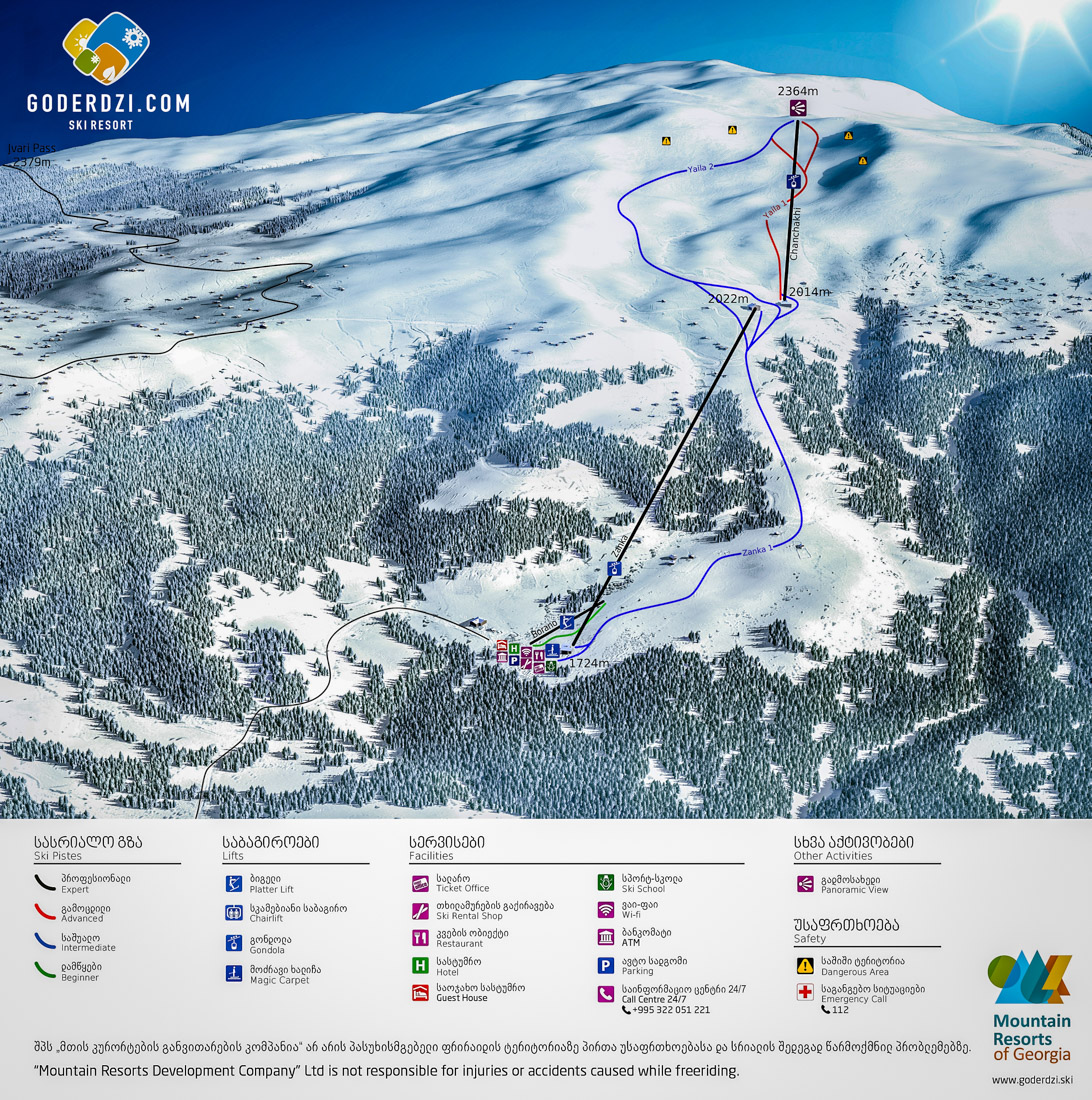 Goderdzi Map - Ski Resort